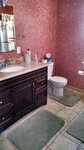 Vanity installed, toilet installed
